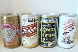 Vintage 4 Can Lot Huber Seven Springs Oyster House Ballantine Lager Beer Cans