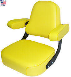 Yellow Vinyl Seat Assembly For John Deere 2520 2940 4030 4240 5020 ++ Tractor