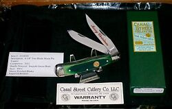 Canal Street Green Bone Trapper 2011 Serial 033 Christmas Knife And Packaging
