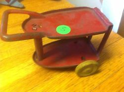 marx steel toy cart table 1930s 1940s