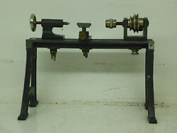 steam engine driven model timber lathe