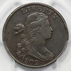 1802 S-235 R-3 Pcgs Vf 35 Draped Bust Large Cent Coin 1c