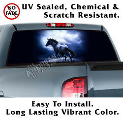 Midnight Run Horse Back Window Graphic Perforated Film Decal Truck