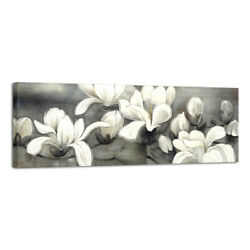 Large Modern Canvas Print Paintings Pictures Wall Art Home Decor Floral Gray