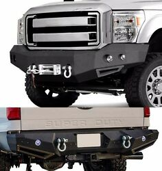 Smittybilt Front And Rear Bumpers W/ Led Lights For 2011-2015 Ford F-350 Superduty