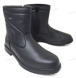 Brand New Men's Winter Boots Leather Ankle Warm Fur Lined Zipper Comfort Shoes