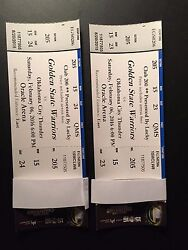 Golden State Warriors Vs Okc Thunder Sat Feb 6 Oracle Arena -two Tickets