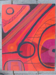 Listed Artist Painting Abstract Modernist Expressionism Fine Art Dr. B. Gross