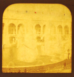 Tissue Stereoview Of The Grand Fountain At The 1900 Paris Exposition