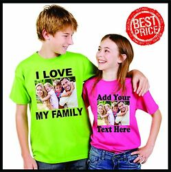 Personalized Custom T Shirt-- with Photo & Text andor Logo make your own design