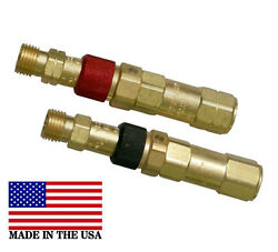 Western Regulator To Hose Quick Connect/connector Disconnect Set, Qdb30