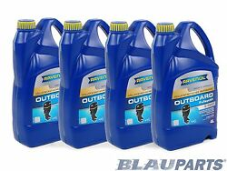 Ravenol 2-stroke Outboard Oil Tc-w3 Approved Full Synthetic Andndash Case Of 16 Liters
