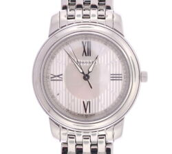 And Co. Stainless Steel Mark Watch W/ Silver And Mop Dial Z0046 W/ Papers