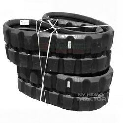 Two Rubber Tracks For Bobcat T180 400x86x49 15.75 Wide Block Tread