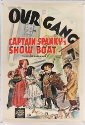 Our Gang Captain Spanky's Show Boat Vintage Stone Litho Movie Poster One Sheet