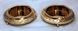 Pair of Fine French Silver Gilt Bottle Coasters on Stands JP MORGAN