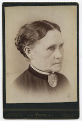 Cabinet Card Blind Woman Cataracts. Anderson, Indiana.