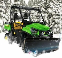 72 Kfi Complete Snow Plow Kit W/ Mad Dog Winch Kit 12-16 John Deere Gator 550