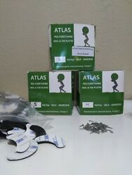 10 Pair Atlas 3m Heel Plates Shoe Taps Made In The Usa Nylon Protector W/nails