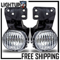 1997-2003 Chevy Malibu Left Right Sides Pair Clear Driving Fog Lights Lamps