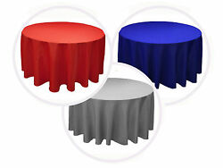 15 Packs Round 132 Inch Tablecloth Wedding Polyester Party Event 25 Colors 6 Ft