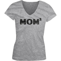 Mom Cubed Best Mom Ever Mommy Mother's Day Gift Juniors V-neck T-shirt