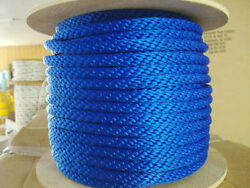 Anchor Rope Dock Line 5/8 X 400and039 Braided 100 Nylon Royal Blue Made In Usa