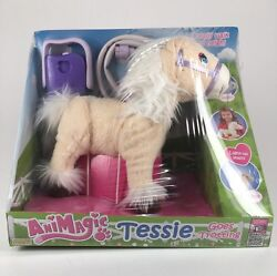 Animagic Purple Tessie Goes Trotting Blonde And White Haired Battery Pony