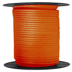 Anchor Rope Dock Line 5/8 X 300and039 Braided 100 Nylon Orange Made In Usa