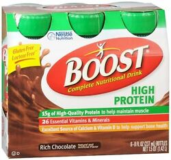 Boost High Protein Nutritional Energy Drinks Chocolate 48 Oz Pack Of 4