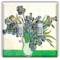 Light Switch Plate Cover Van Gogh Still Life - Vase with Irises Decor