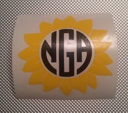 Sunflower Decal with your Monogram For Your Yeti Rambler Tumbler Or Colster $6.00
