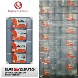 504 Rolls Blue Centre Feed Rolls Embossed 2ply Wiper Paper Towel Active Bulk Buy