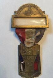 Jbiu Of A 1941 18th Convention Indiana Union Beauty Shop Delegate Medal Badge
