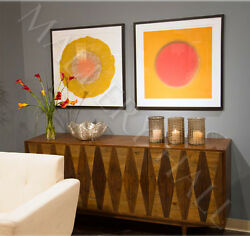Bleached Pine Diamond Accented Sideboard Shelf for Storage