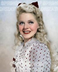 ALICE FAYE IN POLKA DOT DRESS 8X10 BEAUTIFUL COLOR PHOTO BY CHIP SPRINGER