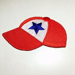 30x Beautiful Red Cap Hat Shirt Embroidered Sew Iron on Patch DIY