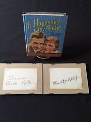It Happened One Night - Photoplay With Autographs Of Claudette Colbert
