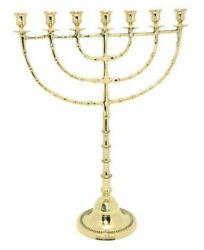 Brass Copper Jumbo Menorah 22 Inch Height Seven Branch Oil And Candle Holder Gift