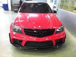 FRP Body Kit For 08-11 Benz W204 C63 AMG Black Edition Front & Rear Bumper