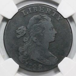 1798 S-183 R5 Ngc Fine Details 2nd Hair Draped Bust Large Cent Coin 1c