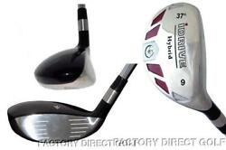 New Made Left Hand Handed 9 Hybrid Taylor Fit Graphite Regular Rescue Iron Wood