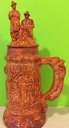 Vintage Bavarian Collectible Beer Stein Hunting Scenes Collectible Gift