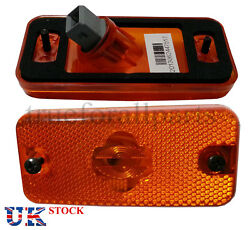 2x Side Marker Lights Lamps Amber For Fiat Ducato Maxi 2009 E4 Marked 24v