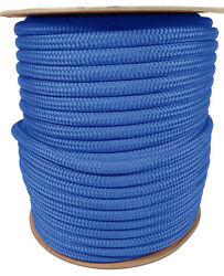 Anchor Rope Dock Line 5/8 X 350and039 Double Braided 100 Nylon Royal Made In Usa