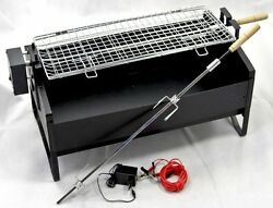 Electric Rotating Barbecue Bbq Rotisserie Charcoal Grill Shish Taouk 12-120v