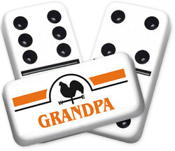 Greeting Series Grandpa Design Double six Professional size Dominoes