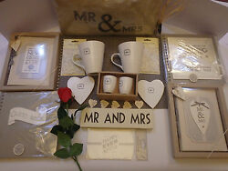 Wedding Mr And Mrs Cushion Or Mugs, Coasters, Egg Cups, Guest Book Mulit Listing