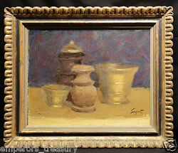 20th Century Oil Painting Still Life By Dick Sargent American 1911-1978