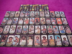 Topps Basketball Card Lot 1971 Trios Stickers Set 19 Diff